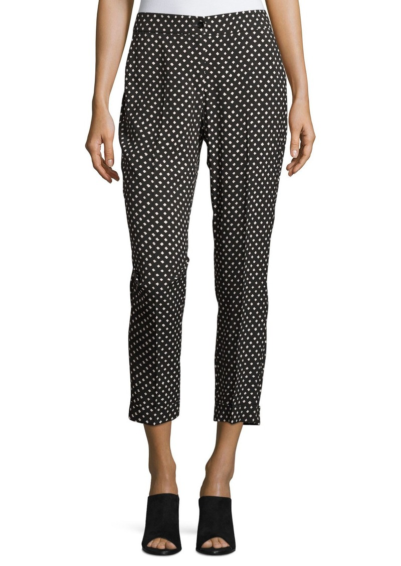 Etro Dot-Print Slim Cropped Pant