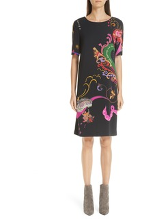 Etro Dream & Dance Print Sheath Dress