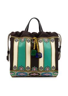 Etro Duchesse Etro Satin Tote Bag