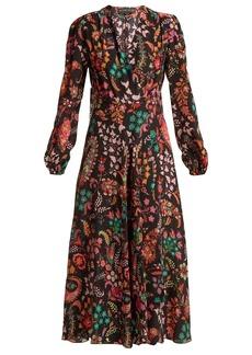 Etro Elsa floral-print silk wrap dress