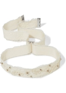 Etro Embellished lace and grosgrain choker