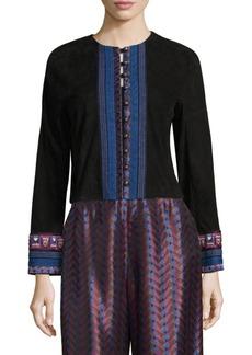 Etro Embellished Suede Jacket