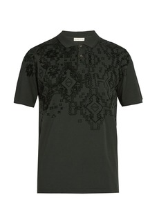 Etro Embossed cotton polo shirt