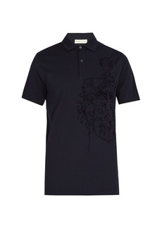 Etro Embossed-crest cotton polo shirt