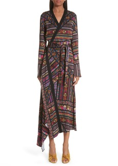 Etro Embroidered Asymmetrical Dress
