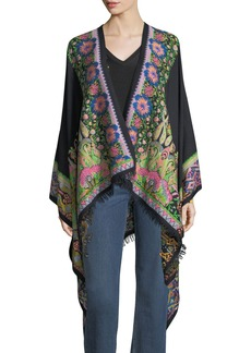 Etro Embroidered Floral Paisley Cape
