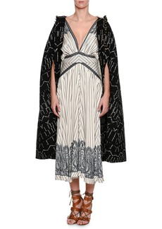 Etro Embroidered Hooded Cape