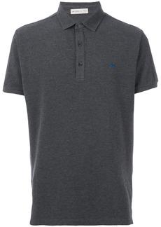 Etro embroidered logo polo shirt - Grey