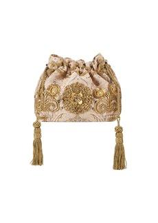 Etro English Rose Embroidered Brocade Shoulder Bag