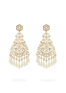 Etro Faux-pearl and crystal chandelier earrings