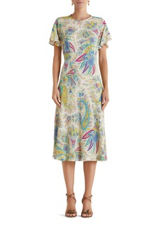 Etro Filicudi Paisley Print Flutter Sleeve Dress