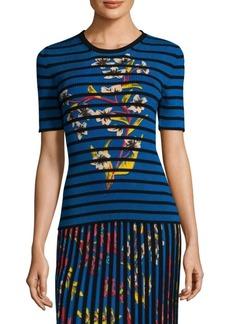 Floral & Stripe T-Shirt