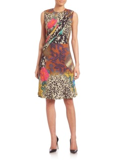 Etro Floral Airbrush Silk Sheath