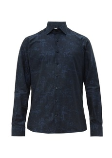 Etro Floral and toadstool-jacquard cotton shirt