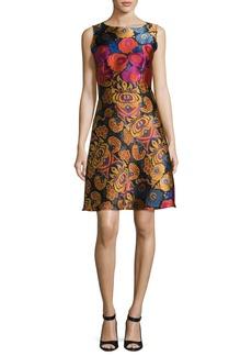 Etro Floral Brocade Sleeveless A-Line Dress