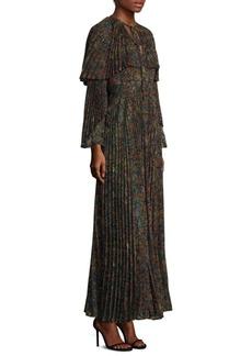 Etro Floral Cape Maxi Dress