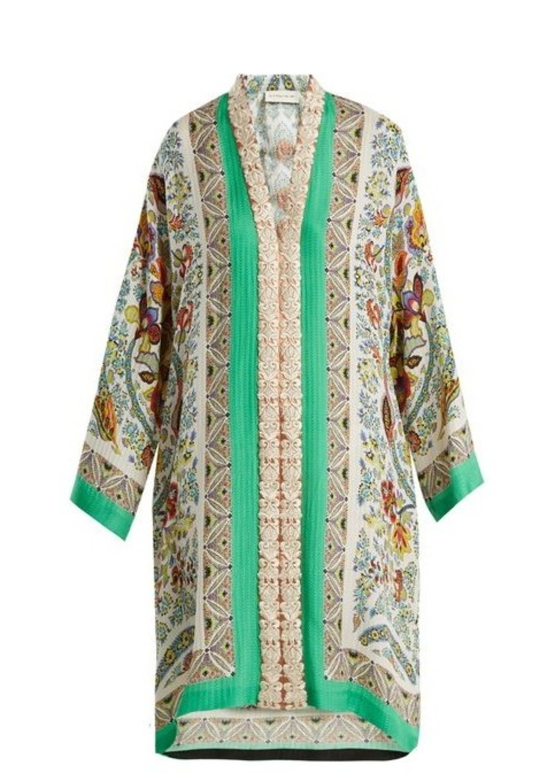 Outlet Sneakernews Floral-embroidered jacquard silk-blend dress Etro Outlet Browse Free Shipping Visa Payment 99P7jDlaB