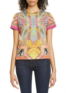 Etro Floral Graphic Tee