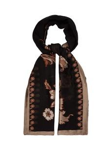 Etro Floral-jacquard silk-blend scarf