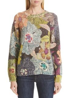 Etro Floral Knit Cotton Blend Sweater