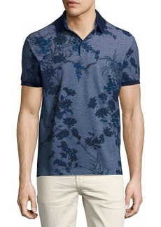 Etro Floral Melange Cotton Polo Shirt