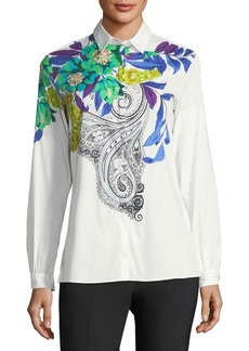 Etro Floral-Motif Cotton Shirt