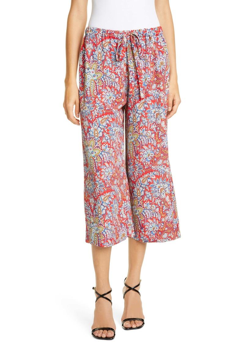 Etro Floral Paisley Print Crop Pants