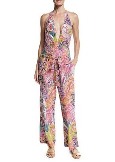 Etro Floral Paisley Silk Coverup Pants
