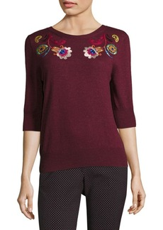 Etro Floral Paisley Wool Top