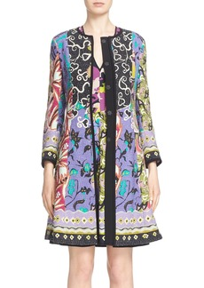 Etro 'Floral Patchwork' Textured Coat