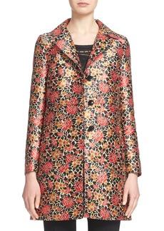 Etro Floral Pattern Jacquard Coat