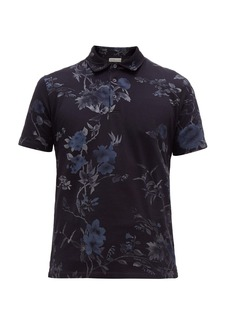 Etro Floral-print cotton polo shirt
