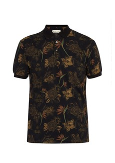 Etro Floral-print cotton polo shirt