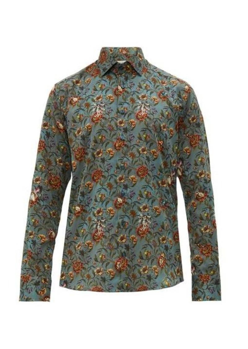 Etro Floral-print cotton-poplin shirt