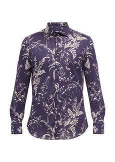 Etro Floral-print cotton-twill shirt