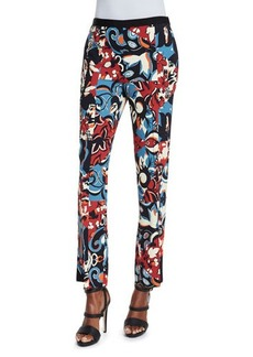 Etro Floral-Print Flared Pants