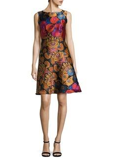Etro Floral-Print Jacquard Dress