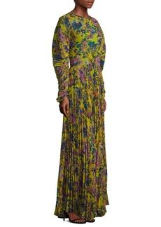 Etro Floral-Print Maxi Dress