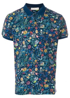 Etro floral print polo shirt - Black