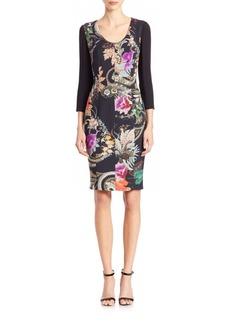 Etro Floral-Print Sheath Dress