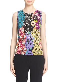 Etro Floral Print Silk & Cashmere Shell