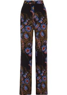 Etro Floral-print silk crepe de chine wide-leg pants