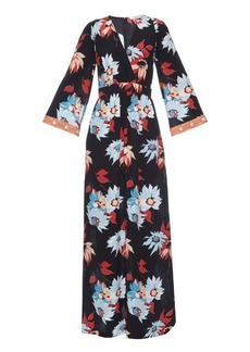Etro Floral-print silk-crepe maxi dress