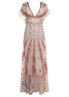 Etro Floral-print silk-georgette gown