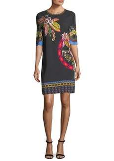 Etro Floral-Print Silk Shift Dress