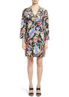 Etro Floral Print Silk Shift Dress