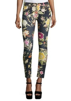 Etro Floral-Print Skinny Jeans