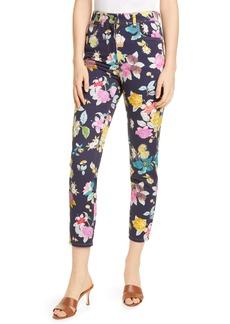 Etro Floral Print Straight Leg Jeans