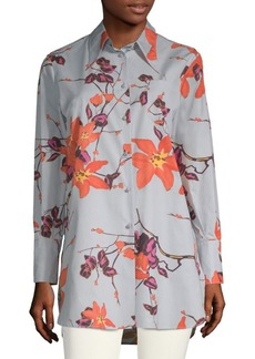 Floral-Print Tunic