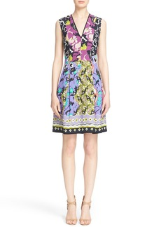 Etro Floral Print V-Neck Sheath Dress